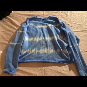 Blue and white tie die sweatshirt